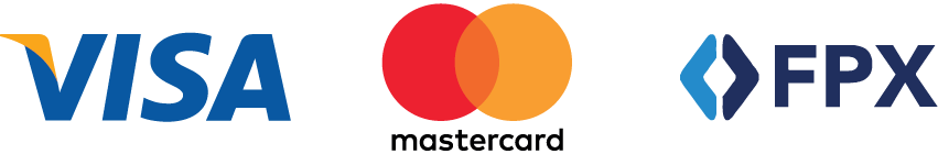 Bluewater accept Visa, Mastercard and FPX